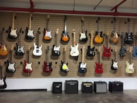 Electric Guitar we have a whole wall to choose from $99 and up