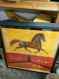 Big wooden framed horse painting Pinole, 94564