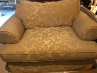 brown and beige floral fabric sofa chair Clifton, 20124