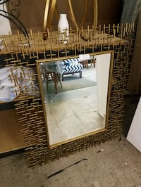 Copper beveled  mirror beauitful Franklin, 37064