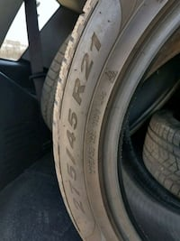New Winter tires 500 km used Laval, H7T 2W3