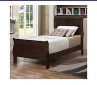 Twin sleigh bed with box spring and mattress Burnaby
