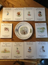 Children book set and Wedgwood plate!