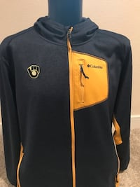 Brewers Columbia Zippered Hoodie, Size XL Milwaukee