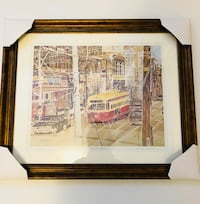 Toronto Original Art - custom framed! 23.5 by 19.5 inches Toronto
