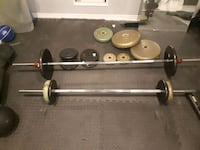 stainless steel barbell and weights Mississauga, L5N 6X7