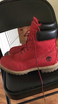 pair of red Timberland work boots Huntsville, 35811