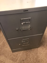 Grey Tone Two Cabinet File Cabinet