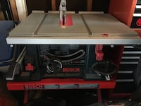 Bosch 10 inch table saw with folding stand