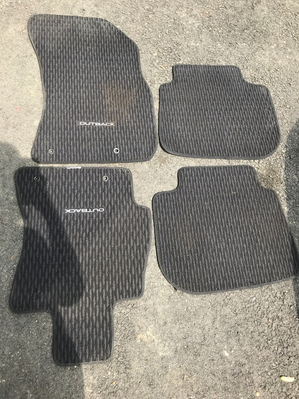 two black car floor mats