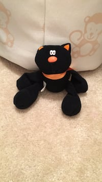 Black and red bear plush toy Aldie, 20105