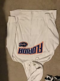 FLORIDA GATORS WHITE LOGO HOODIE SIZE XXL ZIP UP WITH POCKETS 782 mi