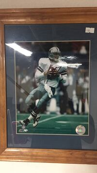 Autographed Troy Aikman Framed Picture Luray, 22835