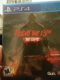 Ps4 friday the 13th game  Williamstown, 41097