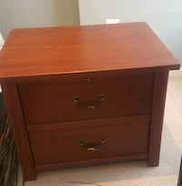 brown wooden 2-drawer nightstand w/ pull out shelf Alexandria, 22304