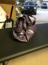 purple leather tote bag with wallet Port Orange, 32128