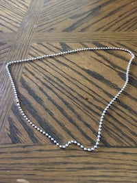 silver ball ring chain necklace Fremont, 52561