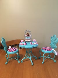 """18"""" doll bistro table and chairs furniture fits American girl dolls  Niagara Falls, L2H 1X3"""