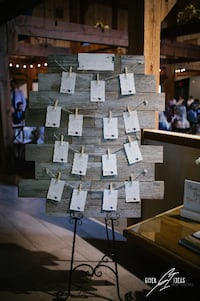 Hand-crafted Wood Seating Chart  Toronto