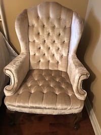 Retro wing back chair