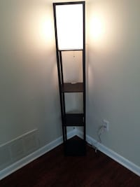 2 Japanese style corner lamps with 3 shelves