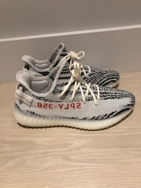 Authentic VNDS Size 10.5 Zebra Yeezys 556 km