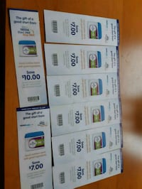 four assorted color of tickets Toronto, M2M 2S3