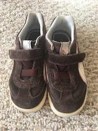 Puma Children Suede Brown Sneakers US size 10 Wheeling, 60090