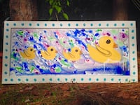 yellow ducklings painting