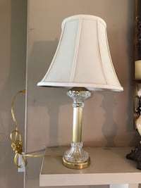 Pretty lamp-crystal and brass column Stamping Ground, 40379