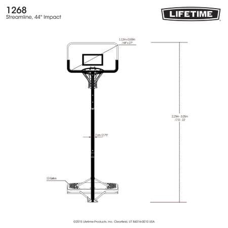 Lifetime Adjustable Portable Basketball Hoop (44-In Impact) f12b5be4-d6aa-49be-831a-a2a2bc4d69aa