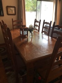 rectangular brown wooden table with six chairs dining set San Diego, 92121