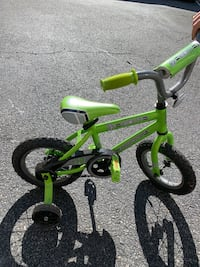 "Huffy 12"" Green BMX style bike with training wheels Fairfax, 22030"