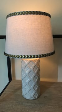 white and black table lamp Alexandria, 22314