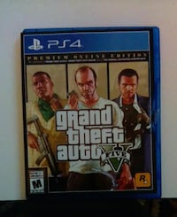 Grand Theft Auto Five PS4 game case Waterloo
