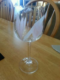 Real Crystal hand painted wine glasses