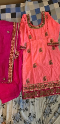 Pink and brown floral textile