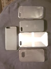 six assorted-color iPhone cases