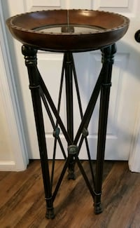 Pedestal Table Sculpture Stand Ornate Metal 43""