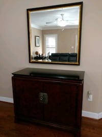 Elegant Wood Server w/Granite Top & Framed Mirror  Vienna, 22181