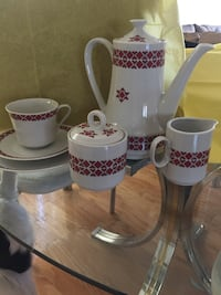 European coffee service for 8 cups saucers, plates cream and sugar . Chicago, 60656