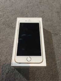 Gold iphone 6, 16GB UNLOCKED in box. 6 cases incl.