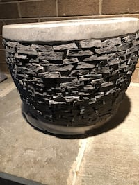 Real stone large base Pot Mount Airy, 21771
