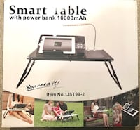 Portable table with built in 10,000mAh POWER BANKB, light easy to transport. Markham, L3T 1B3