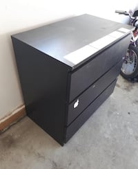 Black wooden dresser/table $25 OBO Calgary, T1Y 4R2
