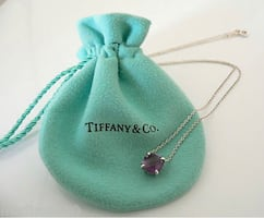 Tiffany and Co. Sterling silver amethyst pendant - Tiffany and Co.