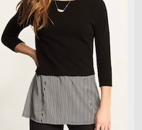 Black and white fooler top