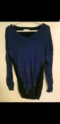 long blue and black sweater- size s Edmonton, T5L 1Y8