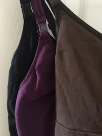 3 Bravado Nursing Tank Tops (Black, Brown, Purple)