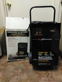 black Shumacher battery charger with box